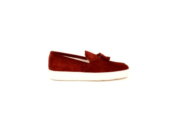 Спортни мъжки обувки от естествен велур в цвят бордо 11.8430