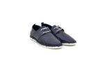 Ежедневни сини мъжки обувки от естествена кожа 55.207