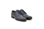 Елегантни сини мъжки обувки от естествена кожа 18.4008