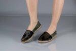 Ежедневни зелени дамски обувки от естествена кожа 56.499