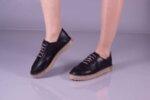 Ежедневни черни дамски обувки от естествена кожа 32.0513