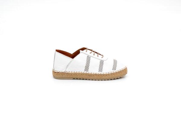 Ежедневни бели дамски обувки от естествена кожа 32.0513