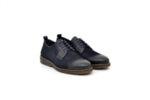 Ежедневни сини мъжки обувки от естествен набук 18.28505