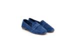 Ежедневни сини дамски обувки от естествен велур 32.4061