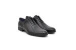 Елегантни черни мъжки обувки от естествена кожа 18.28467