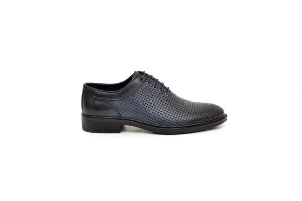 Елегантни сини мъжки обувки от естествена кожа 18.28467