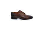 Елегантни кафяви мъжки обувки от естествена кожа 18.26601