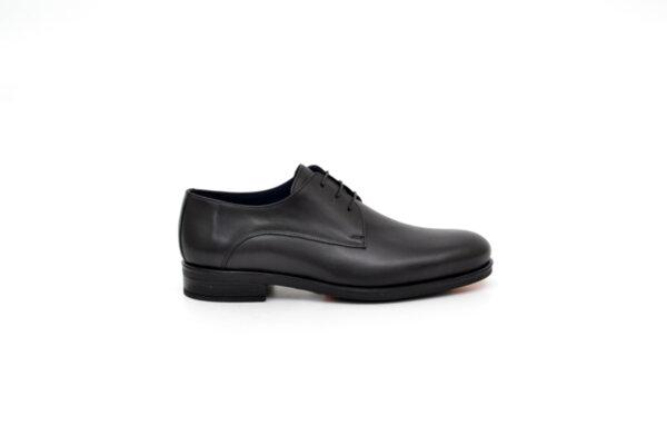 Елегантни черни мъжки обувки от естествена кожа 18.28264