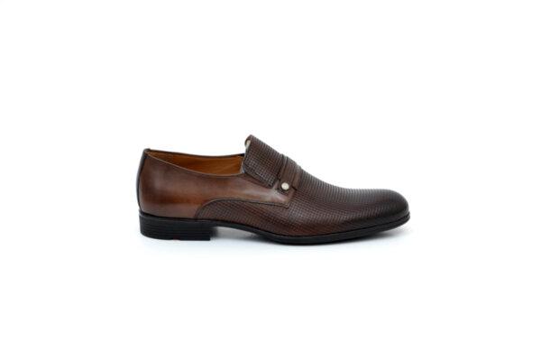 Елегантни кафяви мъжки обувки от естествена кожа 18.29252