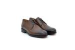 Елегантни кафяви мъжки обувки от естествена кожа 18.28264