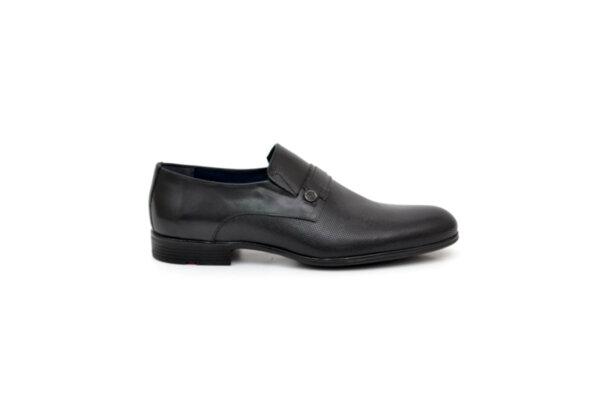Елегантни черни мъжки обувки от естествена кожа 18.29252