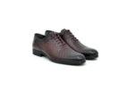 Елегантни мъжки обувки от естествена кожа в цвят бордо 18.28467