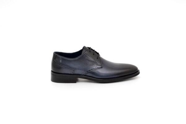 Елегантни сини мъжки обувки от естествена кожа 18.1509