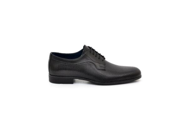 Елегантни черни мъжки обувки от естествена кожа 18.1513