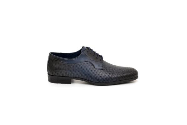 Елегантни сини мъжки обувки от естествена кожа 18.1513