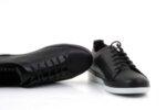 Спортни черни дамски обувки от естествена кожа 06.408