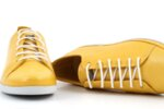 Спортни жълти дамски обувки от естествена кожа 06.408