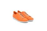 Спортни оранжеви дамски обувки от естествена кожа 06.408