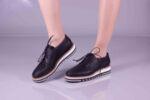 Ежедневни черни дамски обувки от естествена кожа 10.33007