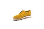 Ежедневни жълти дамски обувки от естествен велур 10.33007