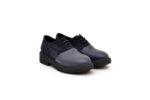Ежедневни сини дамски обувки от естествена кожа и велур 01.5050