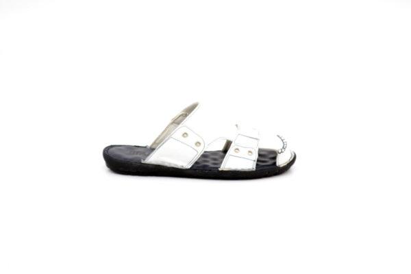 Мъжки бели чехли от естествена кожа 13.1822