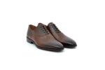 Елегантни кафяви мъжки обувки от естествена кожа 18.1206