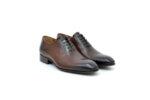 Елегантни кафяви мъжки обувки от естествена кожа 18.1552