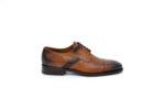 Елегантни камелени мъжки обувки от естествена кожа 18.3557