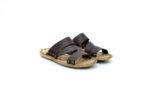 Мъжки кафяви дамски чехли от естествена кожа 13.1711
