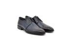 Елегантни сини мъжки обувки от естествена кожа 18.1201