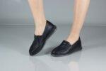 Ежедневни черни дамски обувки от естествена кожа 56.715