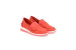 Ежедневни червени дамски обувки от естествена кожа 56.710