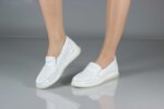 Ежедневни бели дамски обувки от естествена кожа 56.715