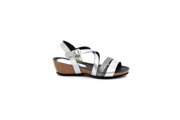 Ежедневни сиви дамски сандали от естествена кожа 52.202