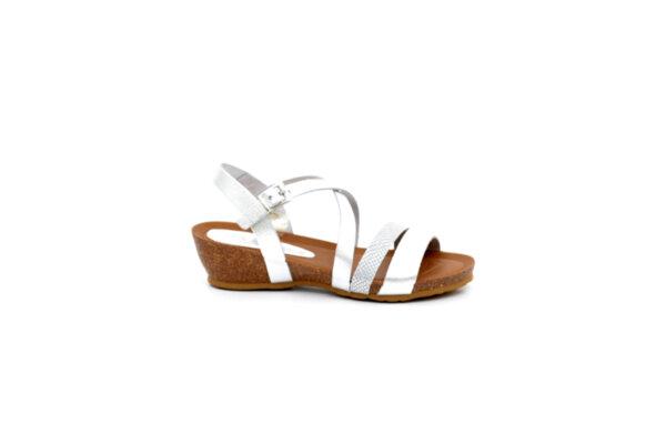 Ежедневни сиви дамски сандали от естествена кожа 52.20
