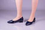 Ежедневни сини дамски обувки от лак 01.3551