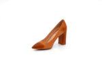 Елегантни камелени дамски обувки от естествена кожа на висок ток 01.3950