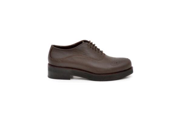 Ежедневни кафяви дамски обувки от естествена кожа 02.604