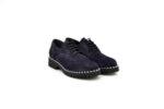 Ежедневни сини дамски обувки от естествен велур 10.30112