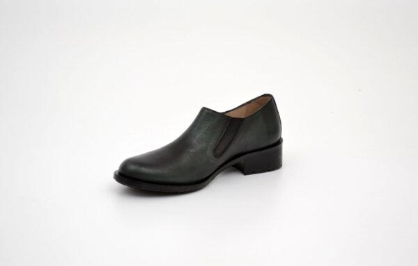 Ежедневни зелени дамски обувки от естествена кожа на среден ток 29.4004