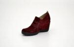 Ежедневни дамски обувки от естествен велур на висок ток в цвят бордо 29.3605
