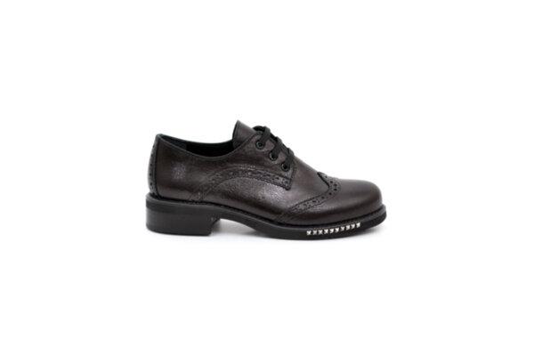 Ежедневни черни дамски обувки от естествена кожа на среден ток 29.12000