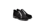 Ежедневни черни дамски обувки от естествен велур 29.12001