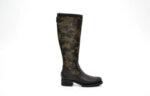Ежедневни черни дамски ботуши от естествена кожа и текстил 43.06