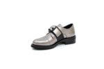 Ежедневни сиви дамски обувки от естествена кожа 29.12006