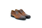 Елегантни камелени мъжки обувки от естествена кожа 18.3566