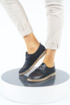 Ежедневни черни дамски обувки от естествена кожа 32.1733