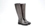 Ежедневни сиви дамски ботуши от естествена кожа 01.474