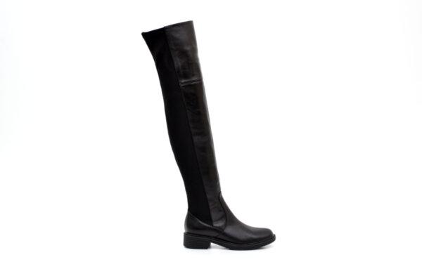Ежедневни черни дамски ботуши от еко кожа 01.473